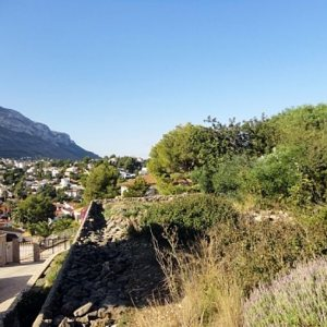 PL03 Plot of land for sale in Denia with views to the Montgó.