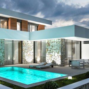 VP63    New luxury construction of 3 bedroom villa for sale near Montgo, in Denia