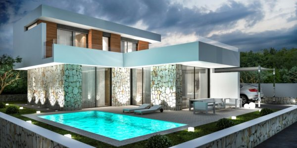 VP63    New luxury construction of 3 bedroom villa for sale near Montgo, in Denia - Photo
