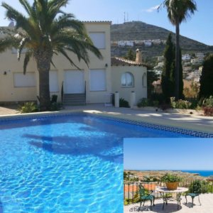 VP122 Villa for sale in Benitachell with sea views and guesthouse