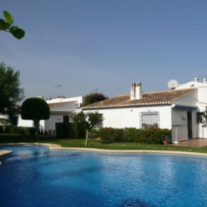 V02 Villa for sale walking distance into Denia with shared pool.