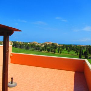 A7 Penthouse for sale in Oliva golf course with sea views in Valencia, Spain.
