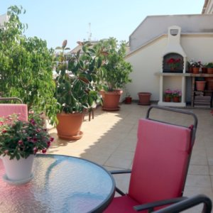 P4 Attic apartment for sale in Denia town with large terrace in alicante, Spain