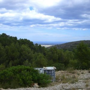 PL20 Plot of land for sale near Denia with building licence and sea views.